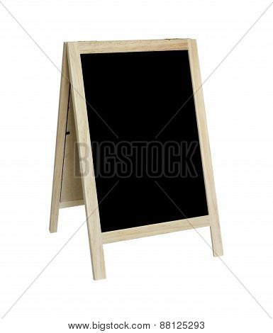 Blank Old Tripod Blackboard Isolated On White Background