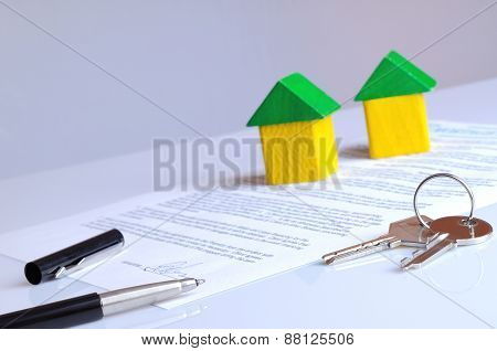 Agreement Signed On A Table