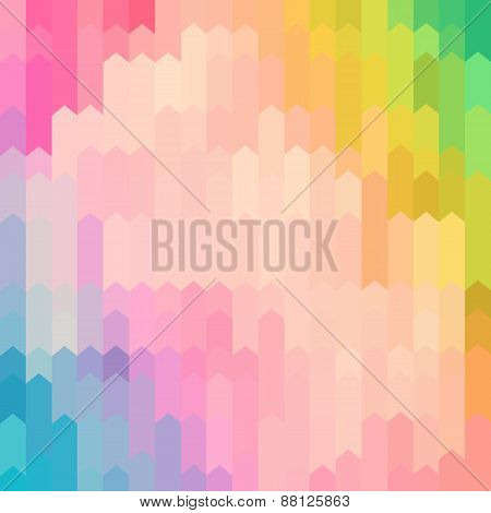 Pastel Colored Abstract Arrow Pattern Background
