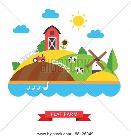 farm countryside vector background