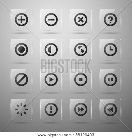 Set of web icons. Vector illustration. Eps10