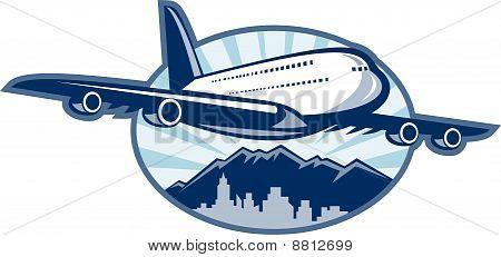 Jumbo jet plane airliner
