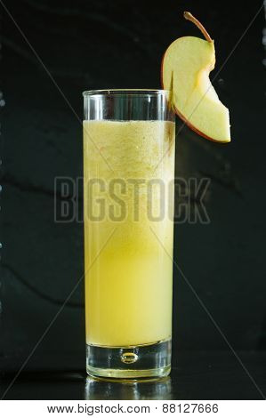 apple fresh juice in glass