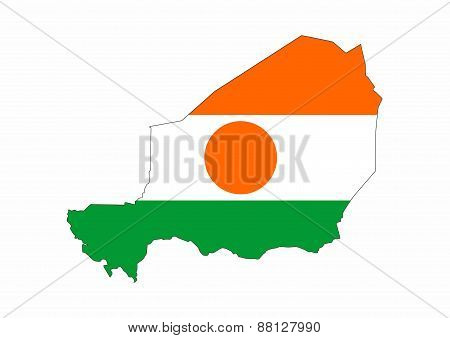 Niger Flag Map
