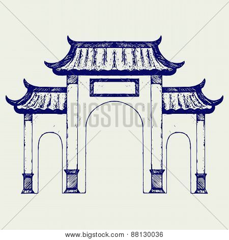Ancient Chinese gate