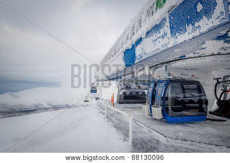 Ski resort funicular