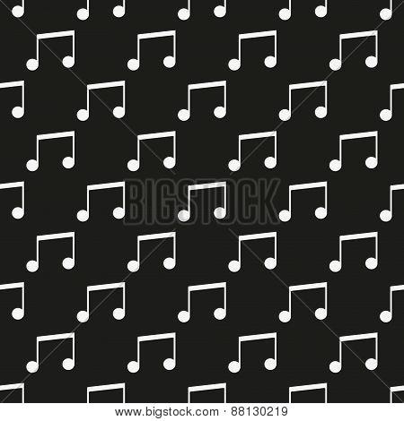 Black music seamless pattern
