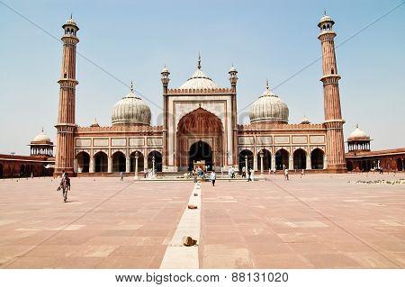 Jama Masjid Of Delhi, India