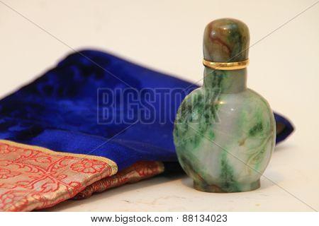 mongolian snuff box