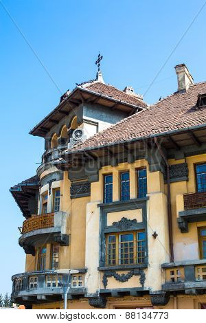 Part of the nice building in Old Town, Brasov, Romania