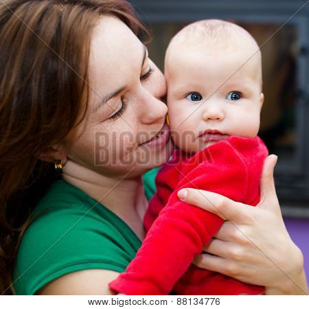 Mother Holds Child