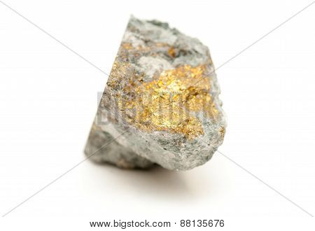 Chalcopyrite Mineral Sample With Gold And Copper With Pyrite