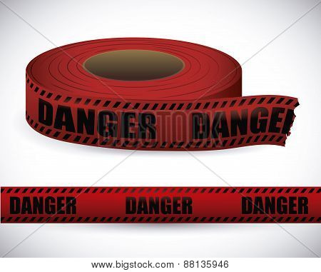 Red tape design.