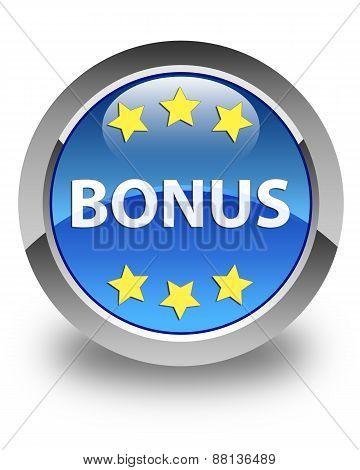 Bonus Glossy Blue Round Button