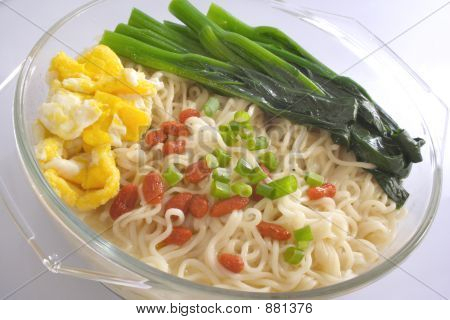 Egg Noodle In Glass Container