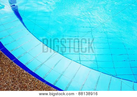Blue Swimming Pool With Pure Transparent Water