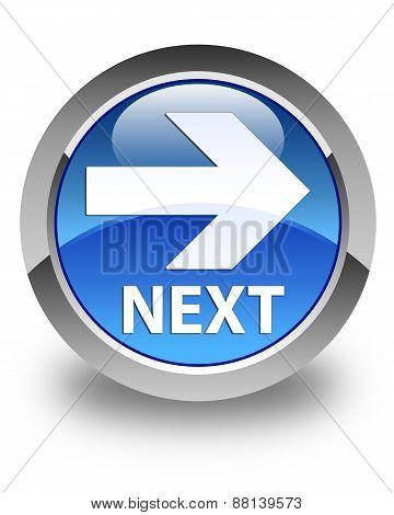 Next Glossy Blue Round Button