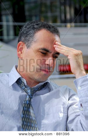 Businessman Unhappy