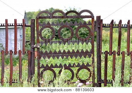 Metal Gate In The Garden