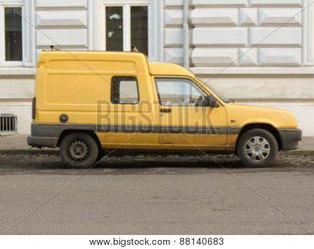 Yellow Renault Express Van