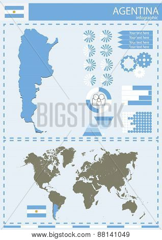 Vector Argentina Illustration Country Nation National Culture Concept