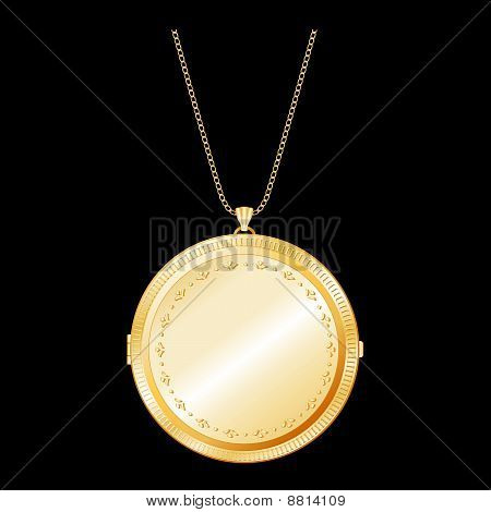 Engraved Gold Locket