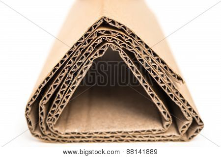 Sections Of Folded Corrugated Cardboard