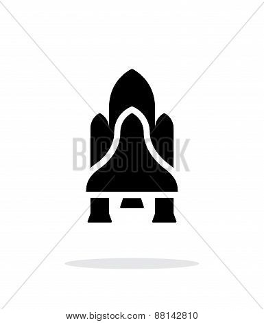 Shuttle simple icon on white background.