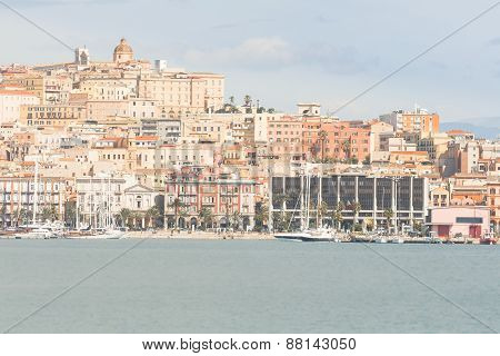 Cagliari , Seafront And Port