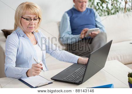 Elderly People Working