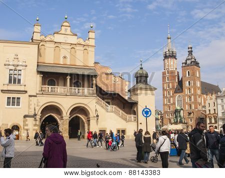 Krakow, Poland - March 29, 2015: Hurch Of Our Lady Assumed Into Heaven (also Known As St. Mary's Chu