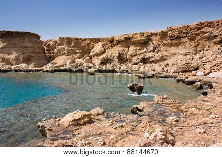 Stony Beach In Egypt.