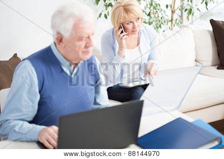 Senior Businesspeople Working