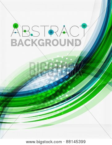 Corporate fresh business wave design, abstract background