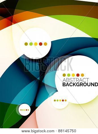 Colorful fresh modern abstract background of wave shapes