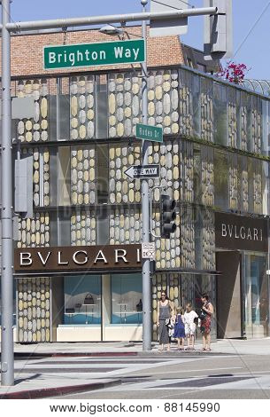 Bulgari Shop In Rodeo Drive In Beverly Hills
