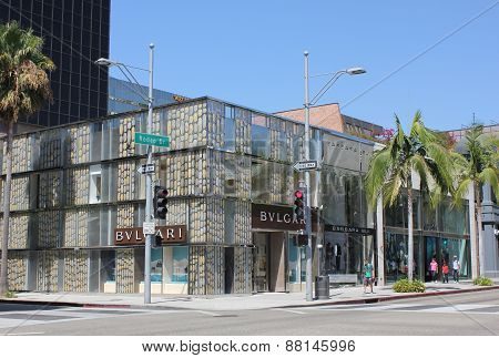 Bulgari Shop In The Famous Rodeo Drive