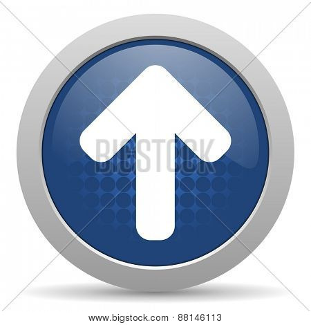 up arrow blue glossy web icon