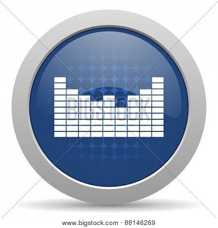 sound blue glossy web icon