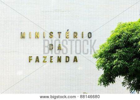 BRASILIA, BRAZIL - CIRCA MARCH 2015: Department of the Treasury (Ministerio da Fazenda) in Brasilia, Brazil