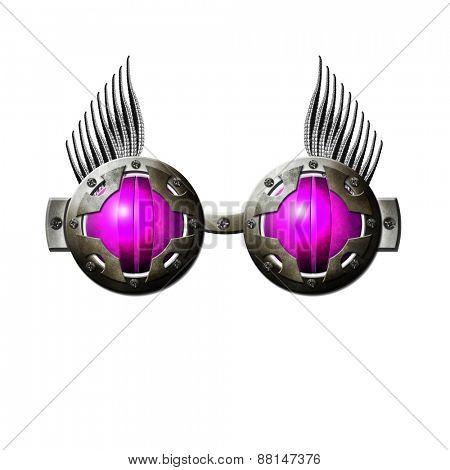 Fantasy pink glasses