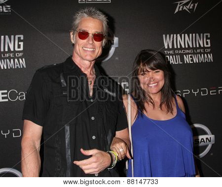 LOS ANGELES - FEB 16:  Ronn Moss, Devin DeVasquez at the