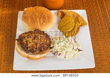 Lump Crab Meat Patty On Bun