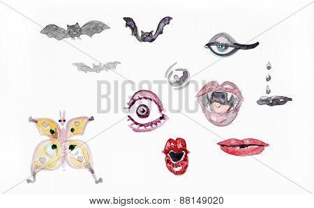 Horror Watercolor Set