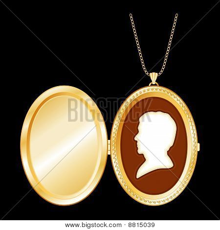 Man's Cameo Locket