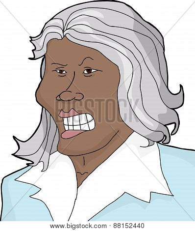 Mad Woman With Gray Hair