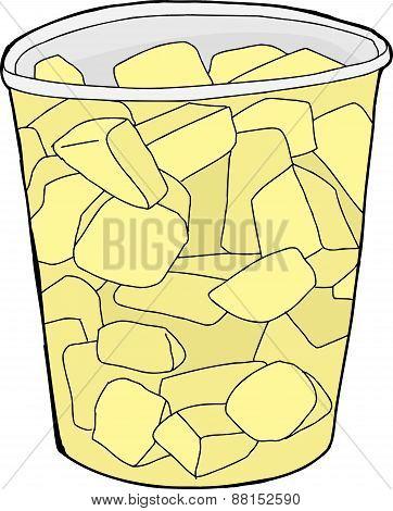 Cup Of Pineapple Chunks