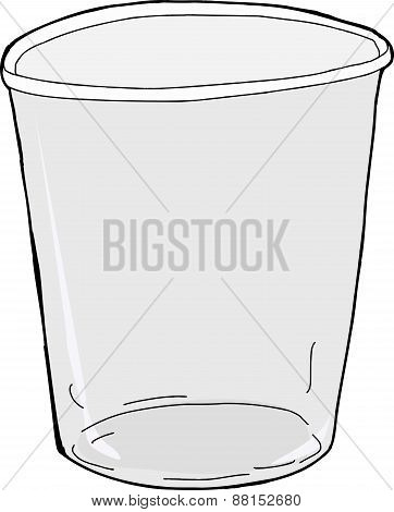 Isolated Empty Plastic Cup