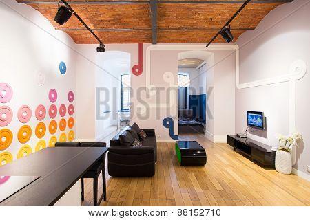 Living Room In Contemporary Design