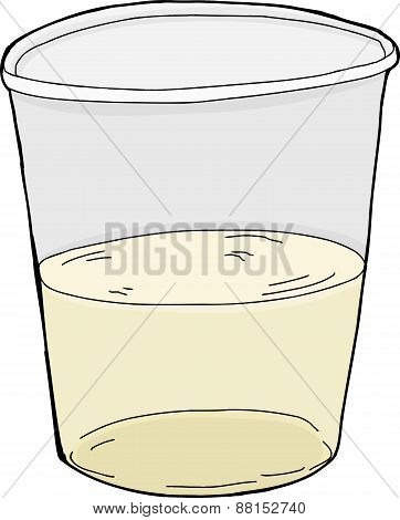 Isolated Half Full Cup